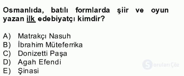 Kültür Tarihi Bahar Final 18. Soru