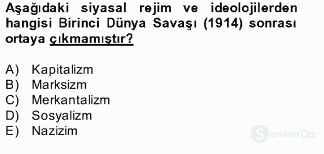 Kültür Tarihi Bahar Final 21. Soru