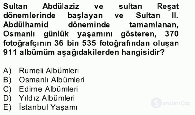 Görsel Kültür Bahar Final 15. Soru