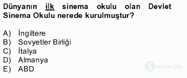 Görsel Kültür Bahar Final 16. Soru