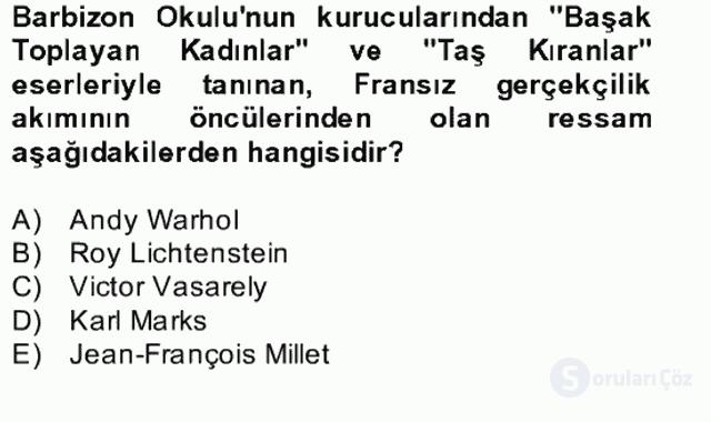 Görsel Kültür Bahar Final 9. Soru