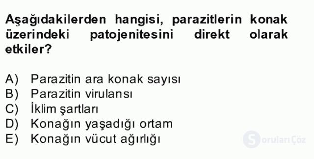 Temel Veteriner Parazitoloji Bahar Final 23. Soru
