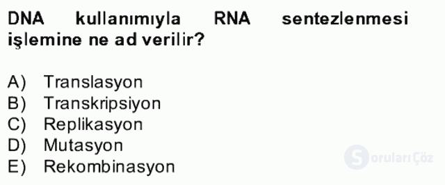 Temel Veteriner Mikrobiyoloji ve İmmünoloji Bahar Final 3. Soru