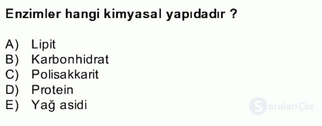 Temel Veteriner Biyokimya Bahar Final 7. Soru