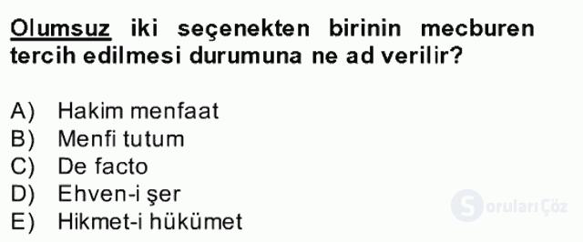 Türk Siyasal Hayatı Bahar Final 13. Soru