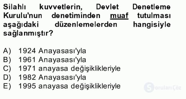 Türk Siyasal Hayatı Bahar Final 23. Soru