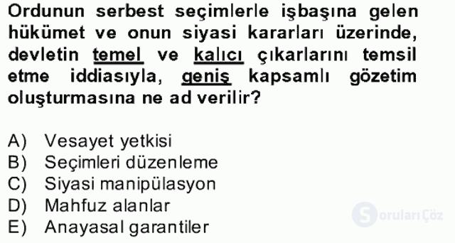 Türk Siyasal Hayatı Bahar Final 24. Soru