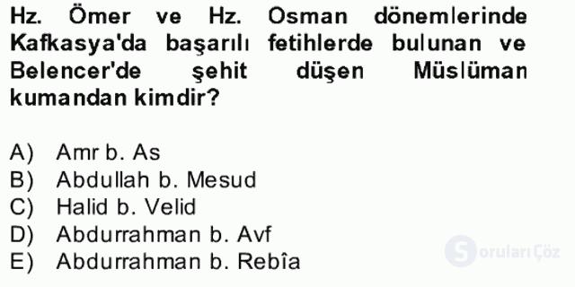 İlk Müslüman Türk Devletleri Bahar Final 1. Soru