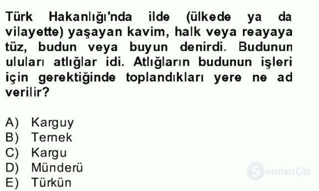 İlk Müslüman Türk Devletleri Bahar Final 17. Soru