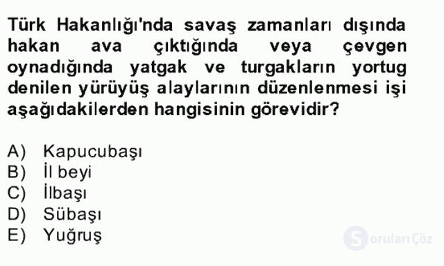 İlk Müslüman Türk Devletleri Bahar Final 20. Soru