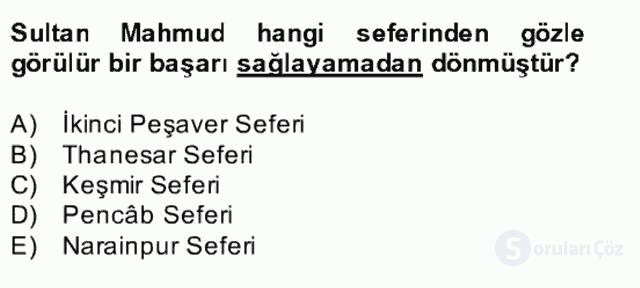 İlk Müslüman Türk Devletleri Bahar Final 21. Soru