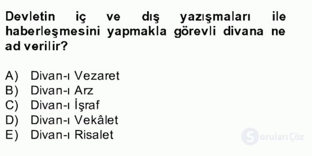 İlk Müslüman Türk Devletleri Bahar Final 28. Soru