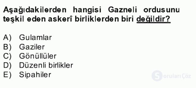 İlk Müslüman Türk Devletleri Bahar Final 30. Soru