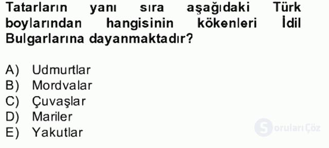 İlk Müslüman Türk Devletleri Bahar Final 5. Soru
