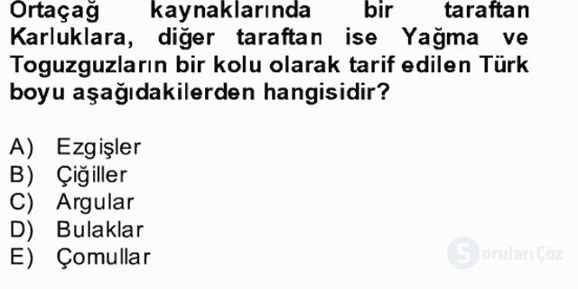 İlk Müslüman Türk Devletleri Bahar Final 6. Soru