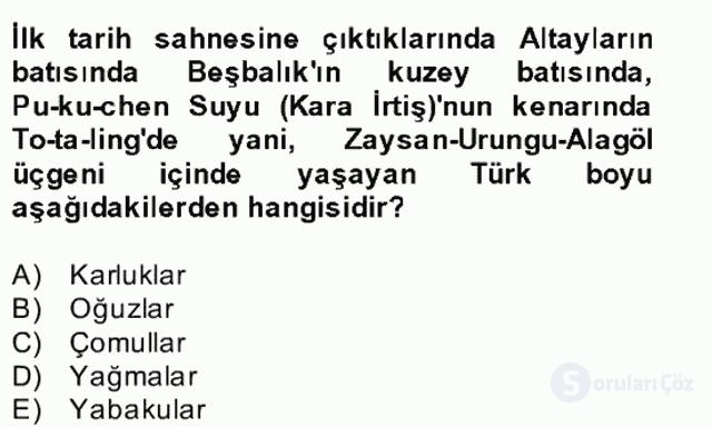 İlk Müslüman Türk Devletleri Bahar Final 9. Soru