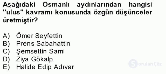 Atatürk İlkeleri ve İnkılap Tarihi II Bahar Final 18. Soru