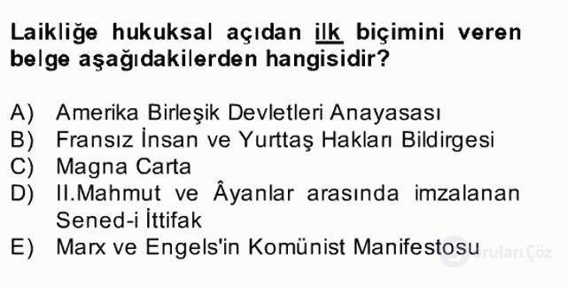 Atatürk İlkeleri ve İnkılap Tarihi II Bahar Final 21. Soru