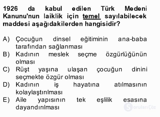 Atatürk İlkeleri ve İnkılap Tarihi II Bahar Final 22. Soru