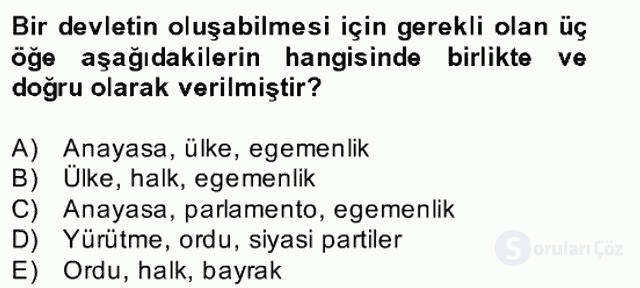 Atatürk İlkeleri ve İnkılap Tarihi II Bahar Final 5. Soru