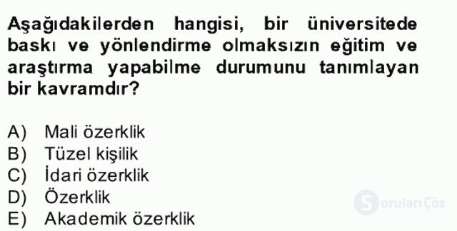 Türk Eğitim Tarihi Bahar Final 25. Soru
