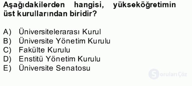 Türk Eğitim Tarihi Bahar Final 26. Soru