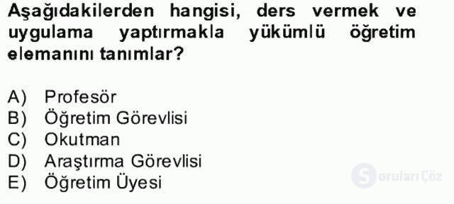 Türk Eğitim Tarihi Bahar Final 27. Soru