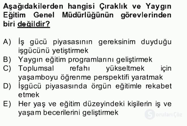 Türk Eğitim Tarihi Bahar Final 28. Soru