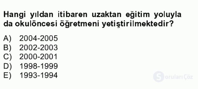 Türk Eğitim Tarihi Bahar Final 5. Soru