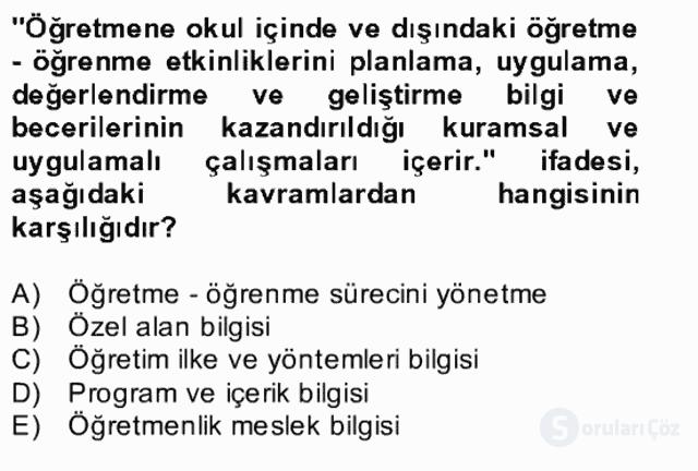 Türk Eğitim Tarihi Bahar Final 6. Soru