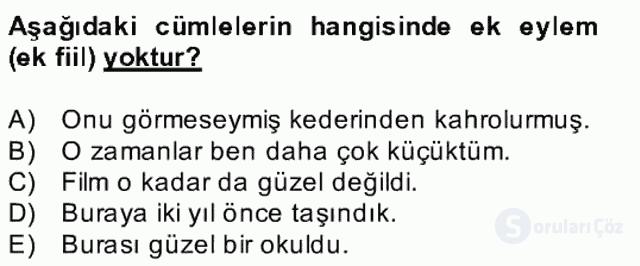 Türkçe Biçim Bilgisi Bahar Final 23. Soru