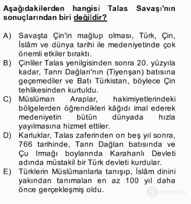 Uygur Türkçesi Bahar Final 2. Soru