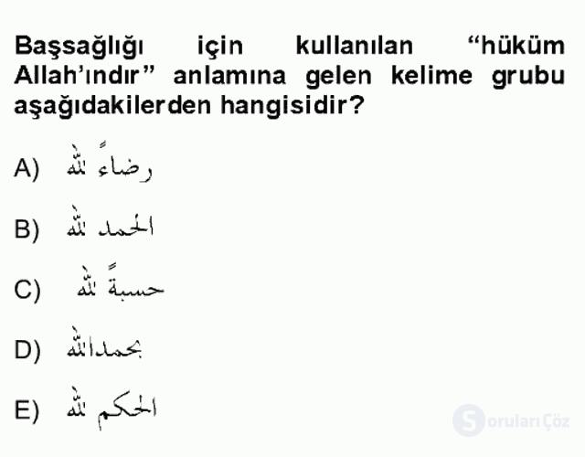 Osmanlı Türkçesi Grameri II Bahar Final 17. Soru