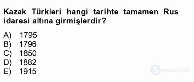 Çağdaş Türk Yazı Dilleri II Bahar Final 10. Soru