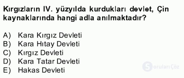 Çağdaş Türk Yazı Dilleri II Bahar Final 20. Soru