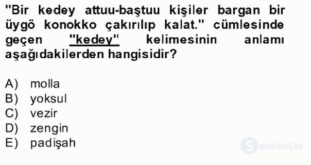 Çağdaş Türk Yazı Dilleri II Bahar Final 26. Soru