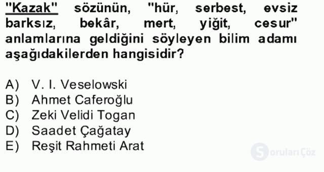 Çağdaş Türk Yazı Dilleri II Bahar Final 9. Soru
