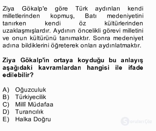 II. Meşrutiyet Dönemi Türk Edebiyatı Bahar Final 10. Soru