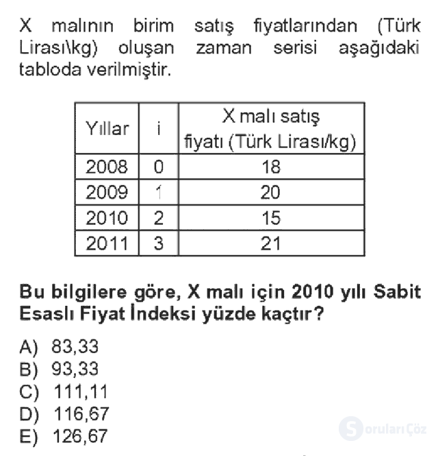 İstatistik II Bahar Dönemi Final Fİnal 16. Soru