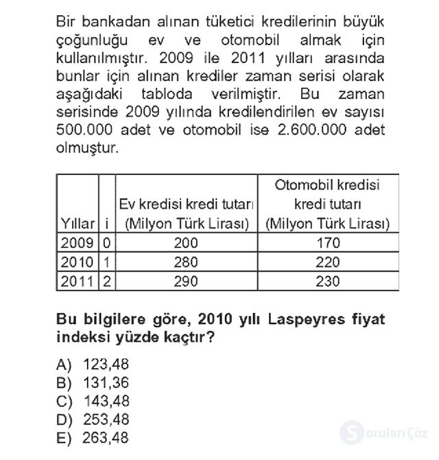 İstatistik II Bahar Dönemi Final Fİnal 17. Soru
