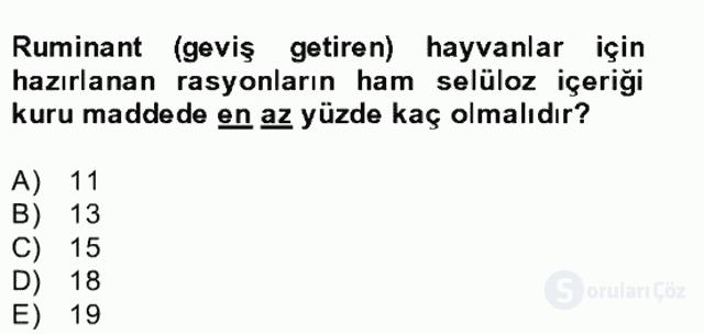 Hayvan Besleme Bahar Final 24. Soru