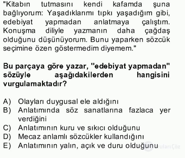 Türk Dili II Bahar Final 1. Soru