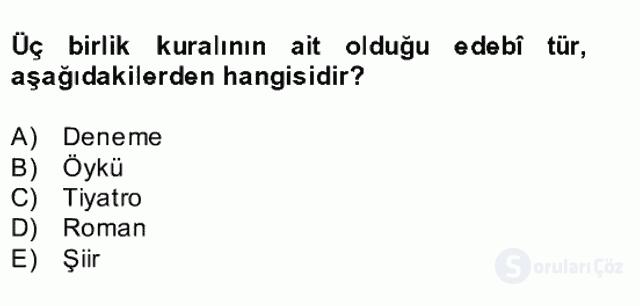 Türk Dili II Bahar Final 12. Soru