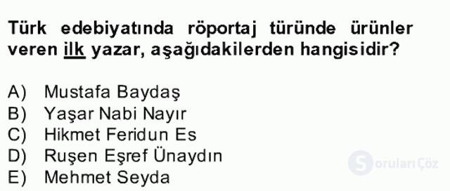 Türk Dili II Bahar Final 14. Soru