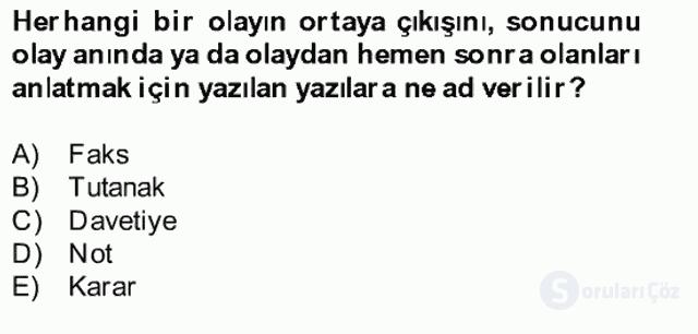 Türk Dili II Bahar Final 15. Soru