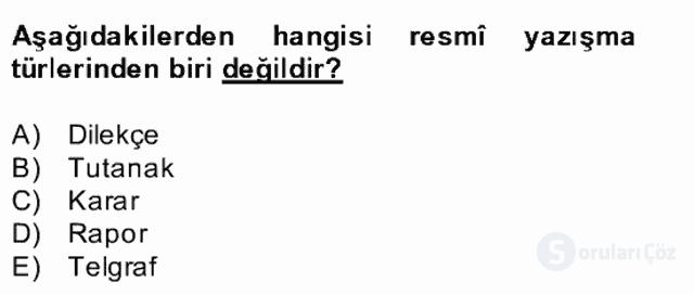 Türk Dili II Bahar Final 16. Soru