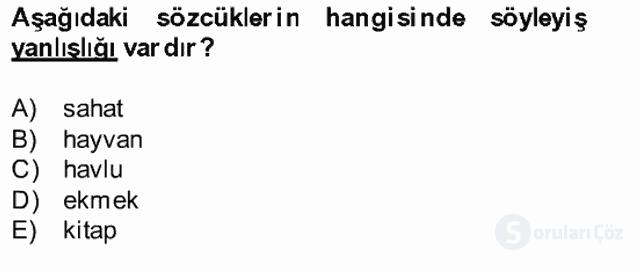 Türk Dili II Bahar Final 19. Soru