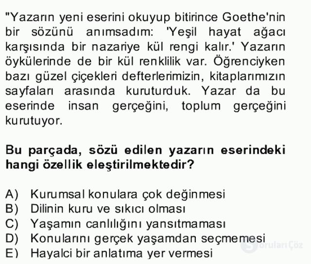 Türk Dili II Bahar Final 2. Soru