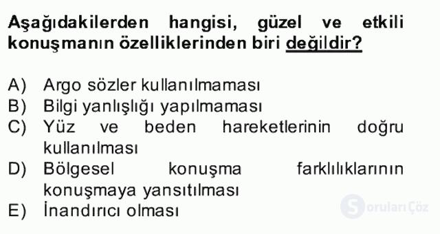 Türk Dili II Bahar Final 20. Soru