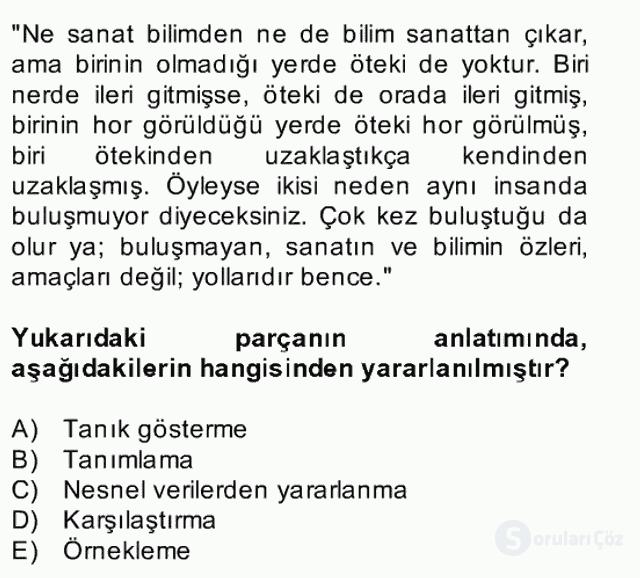 Türk Dili II Bahar Final 8. Soru